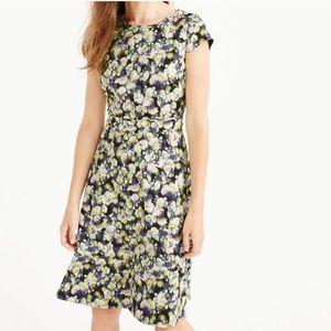 J.CREW cap sleeve watercolor floral dress size 12